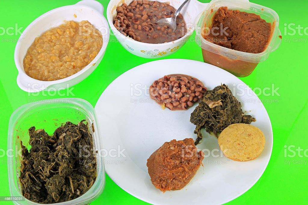 Leftover Soul Food stock photo