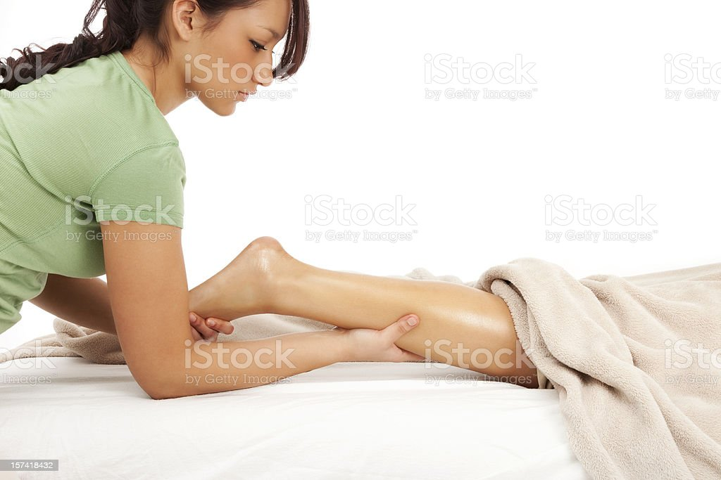 Leg and Foot Massage royalty-free stock photo
