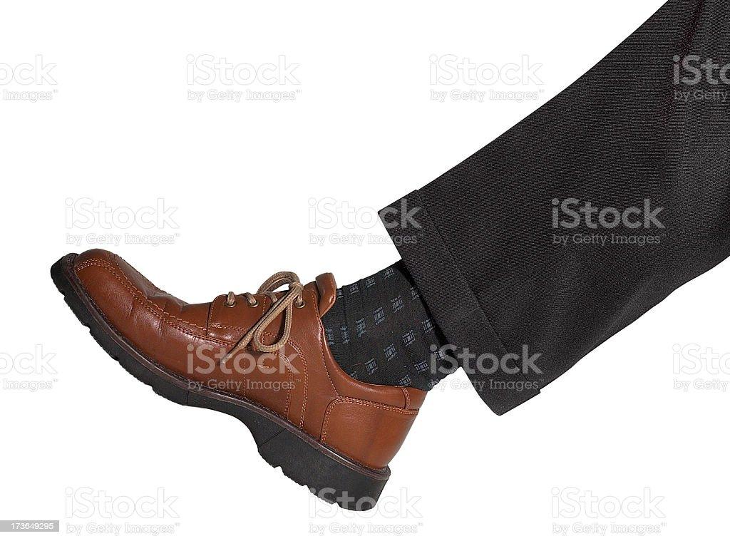leg and shoe stock photo