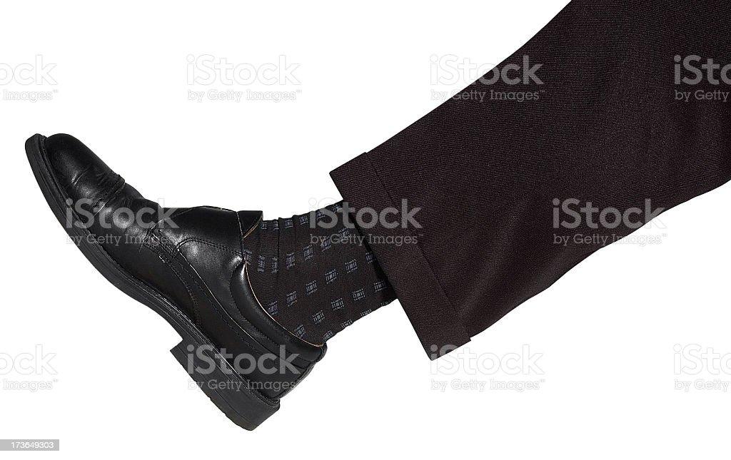 leg and shoe royalty-free stock photo