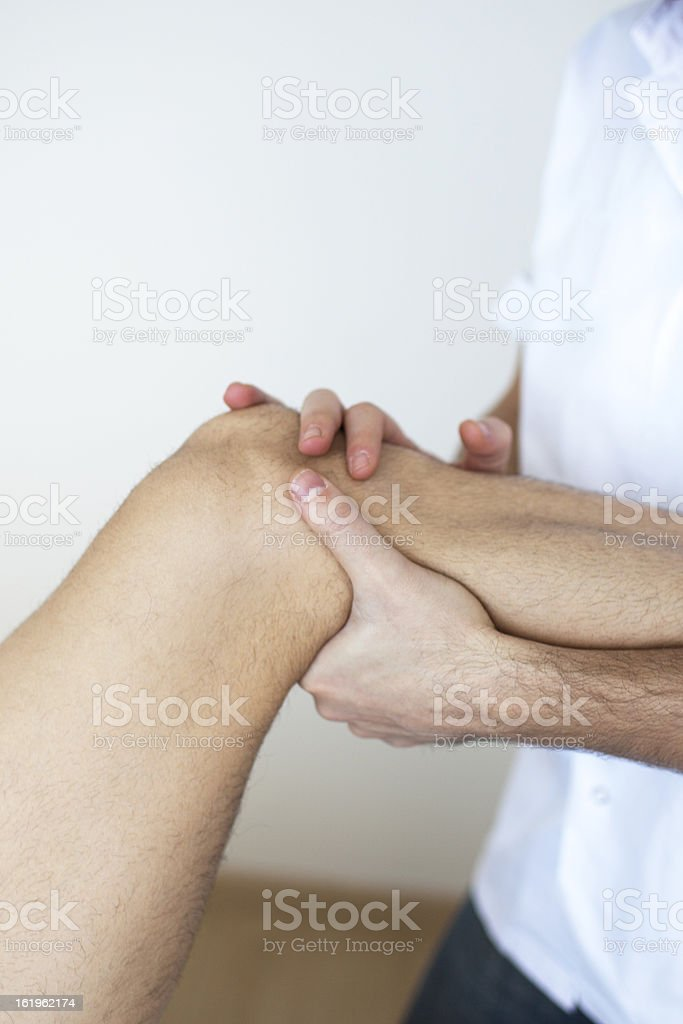 Leg massage royalty-free stock photo