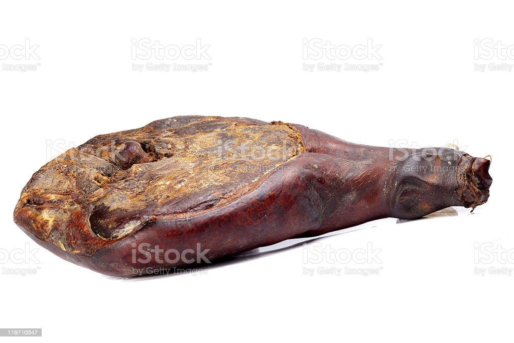 leg of ham stock photo