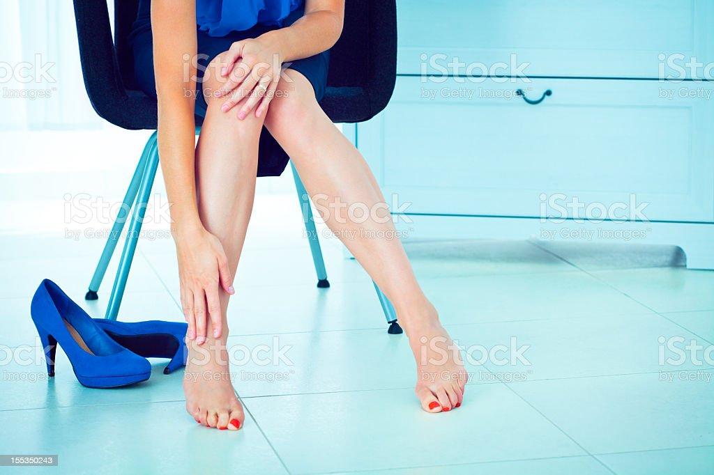 Leg pain stock photo