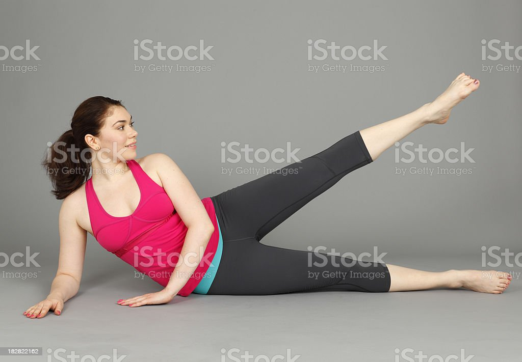 Leg Raise royalty-free stock photo