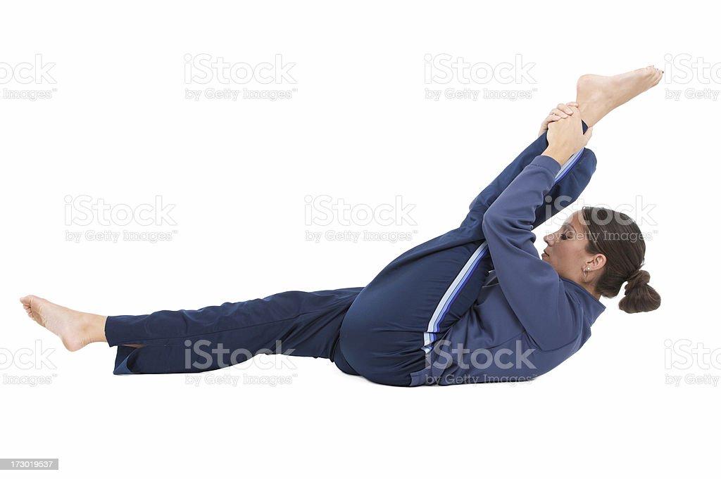 leg stretch series royalty-free stock photo