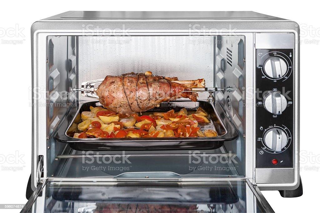 Leg turkey baked in oven stock photo