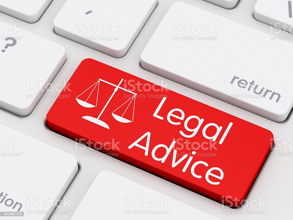 Legal Advice written on keyboard key stock photo