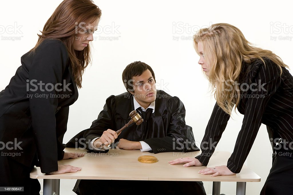 Legal argument royalty-free stock photo