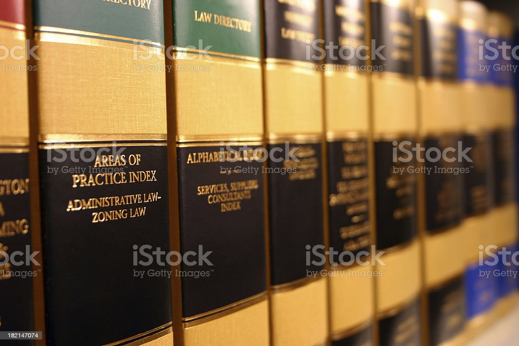 Legal Books stock photo
