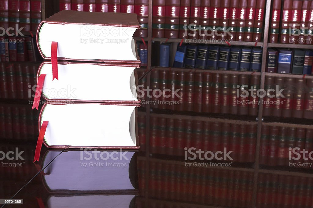 Legal books royalty-free stock photo
