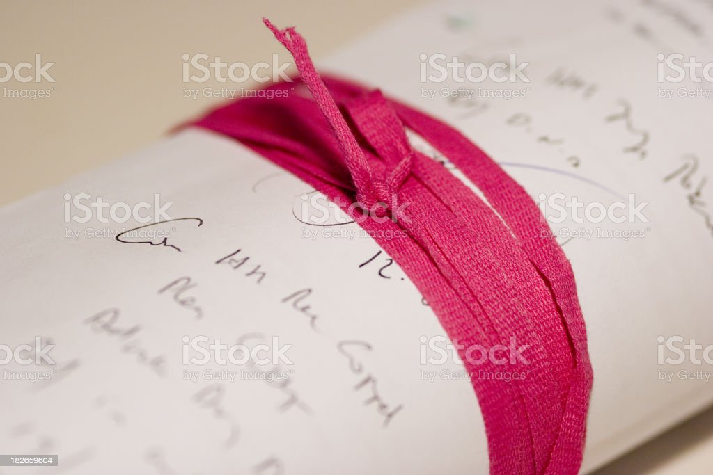 Legal brief close up royalty-free stock photo