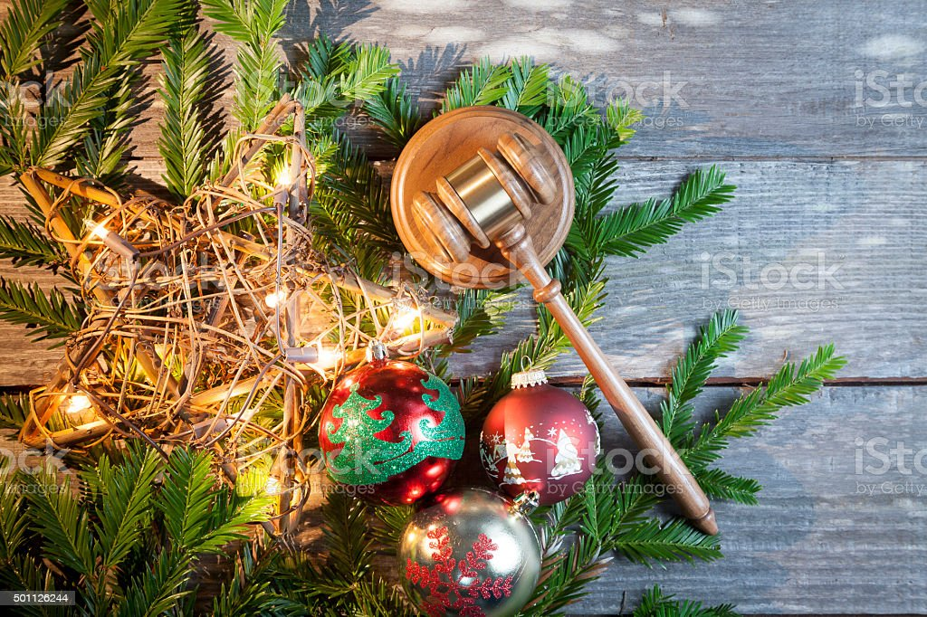 Legal Christmas stock photo