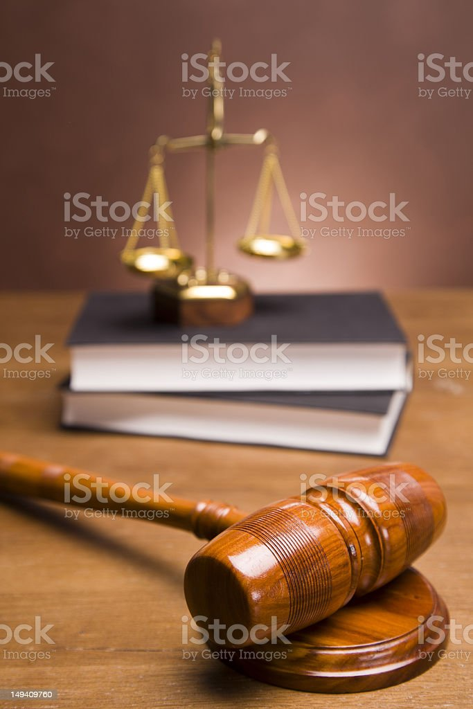 Legal code and scales royalty-free stock photo