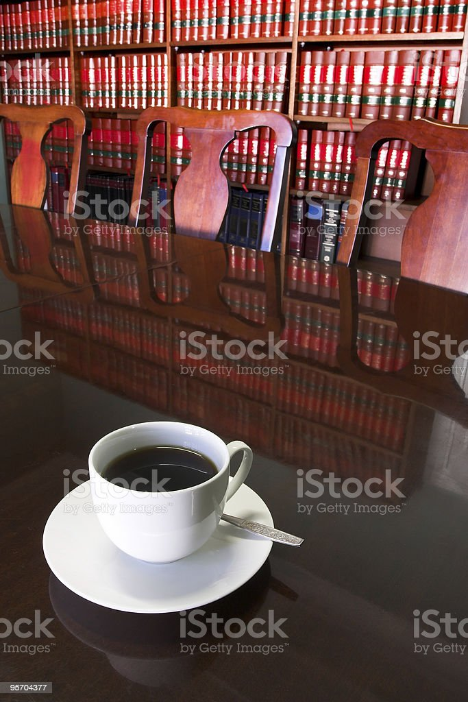 Legal Coffee Cup #2 royalty-free stock photo