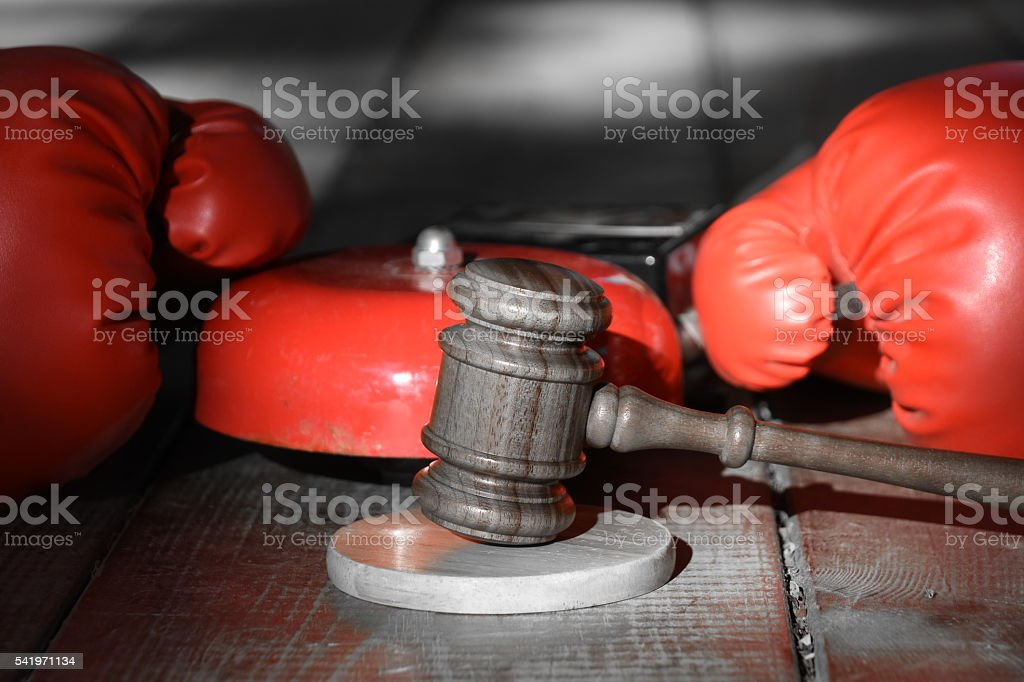 Legal conflict stock photo