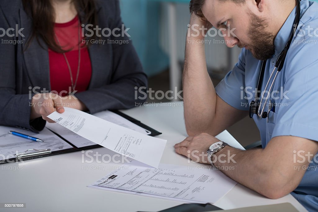 Legal consequences of medical error stock photo