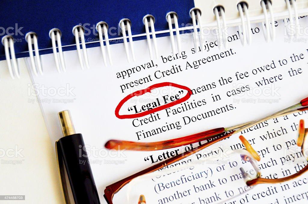 Legal fee stock photo