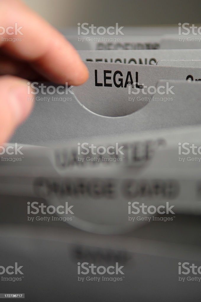 Legal Filing royalty-free stock photo