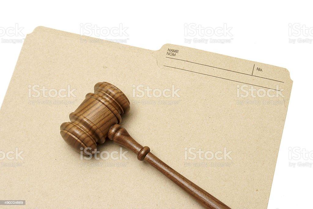 Legal Folder stock photo