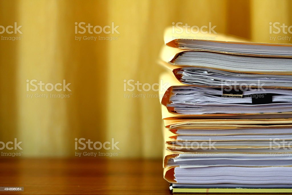 Legal Folders and Files stock photo