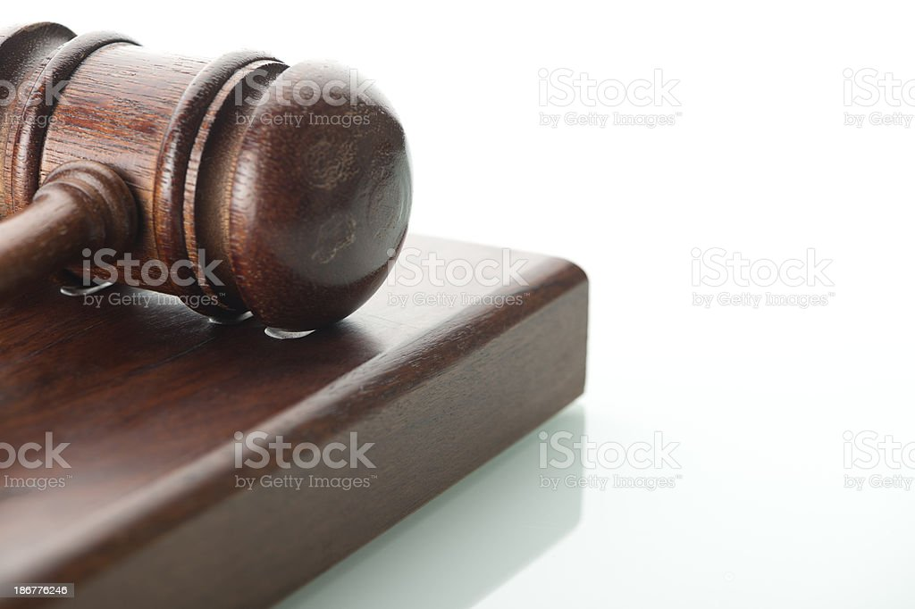 Legal gavel on a white background royalty-free stock photo