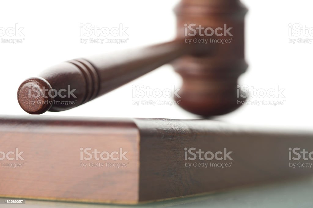Legal gavel on a white background stock photo