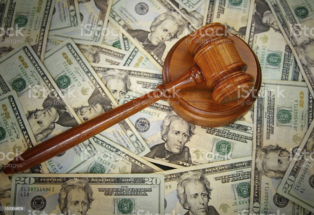 Legal gavel stock photo