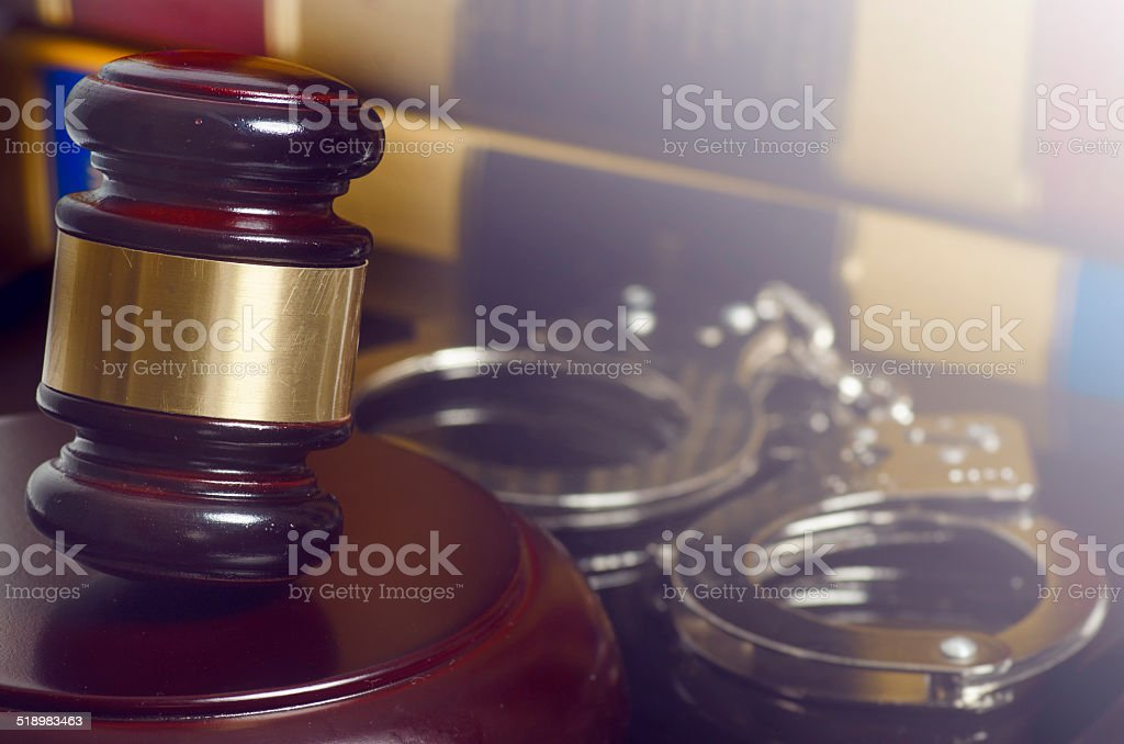 Legal law concept image gavel books stock photo