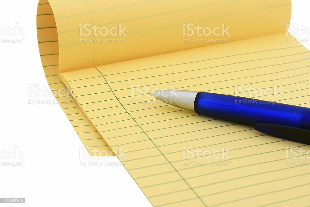 Legal pad (clipping path) royalty-free stock photo