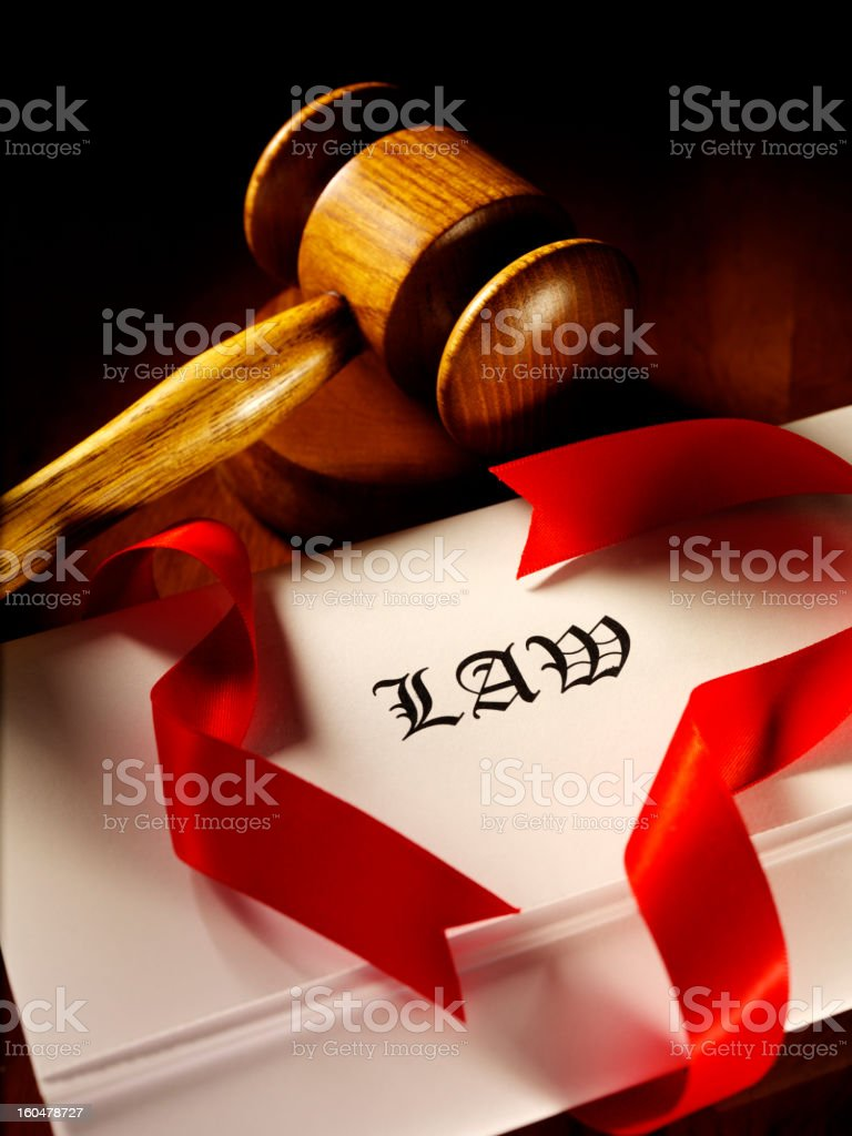 Legal papers and Gavel royalty-free stock photo