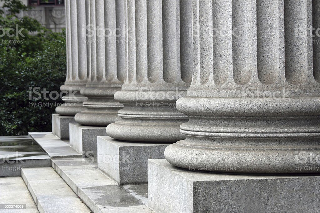 Legal Pillars stock photo