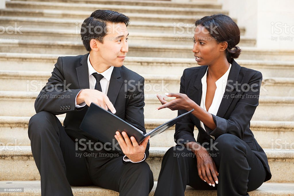 Legal Professionals on Steps stock photo
