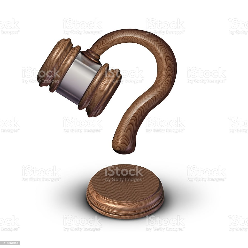 Legal Questions stock photo