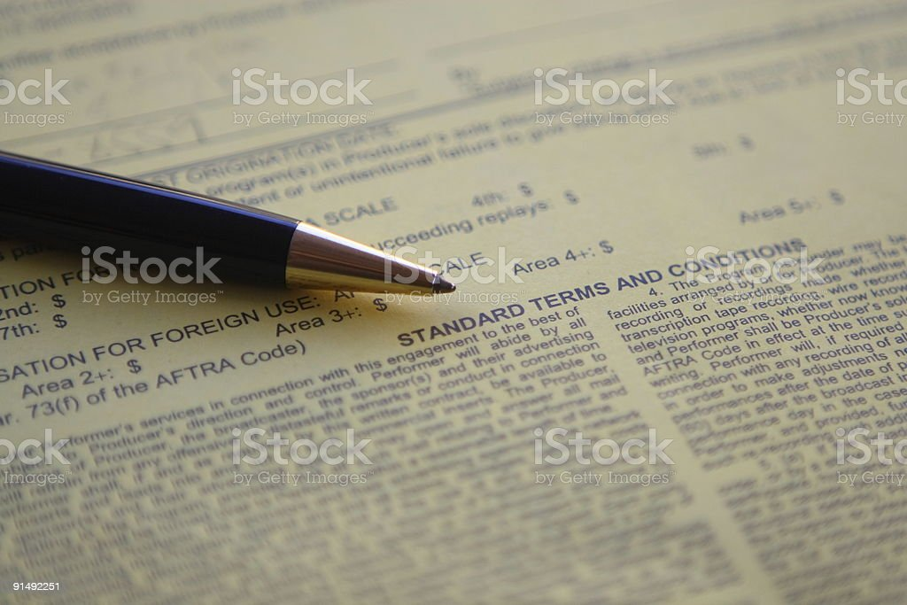 Legal review stock photo