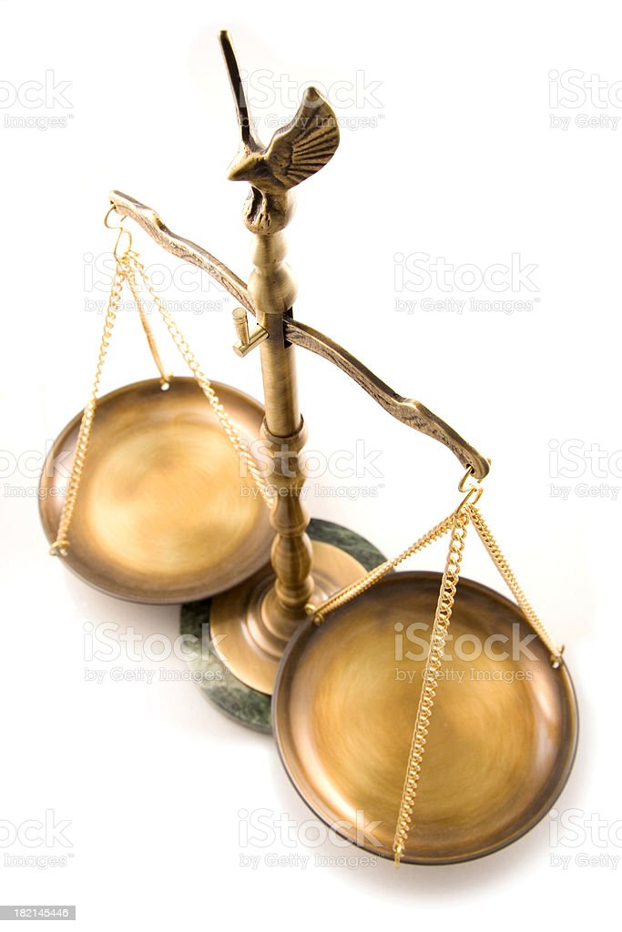 Legal Scale 2 royalty-free stock photo