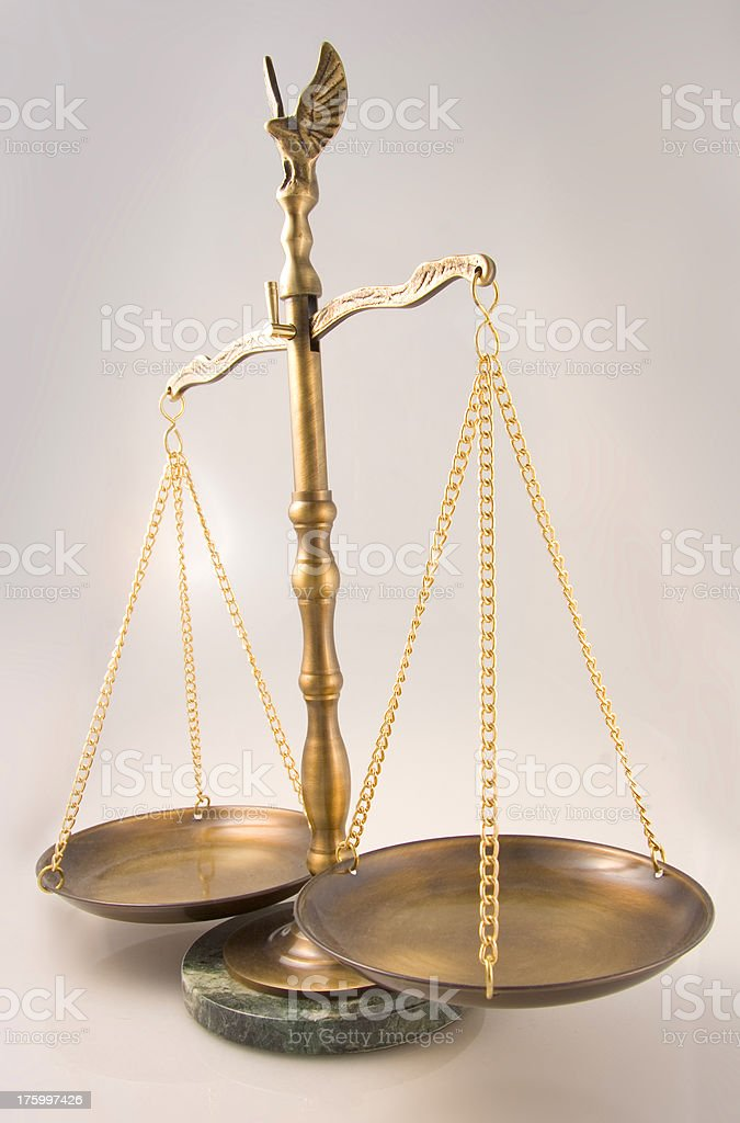 Legal Scale 3 stock photo