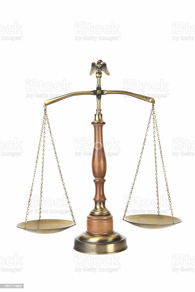 Legal Scales royalty-free stock photo