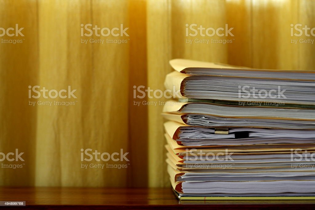 Legal Word File Folders stock photo