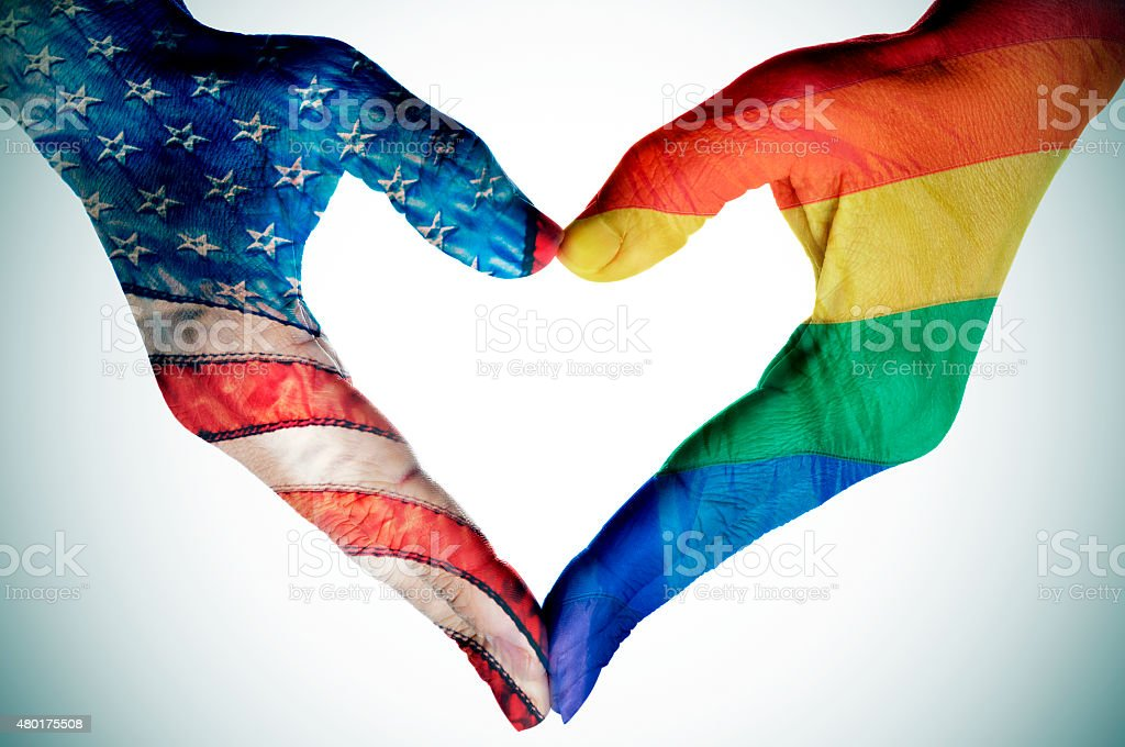 legalization of the same-sex marriage in the United States stock photo