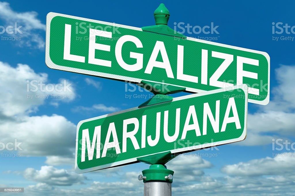 Legalize Marijuana Street Sign stock photo