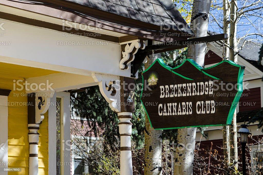 Legalized Cannabis and Marijuana Store: Breckenridge, Colorado stock photo