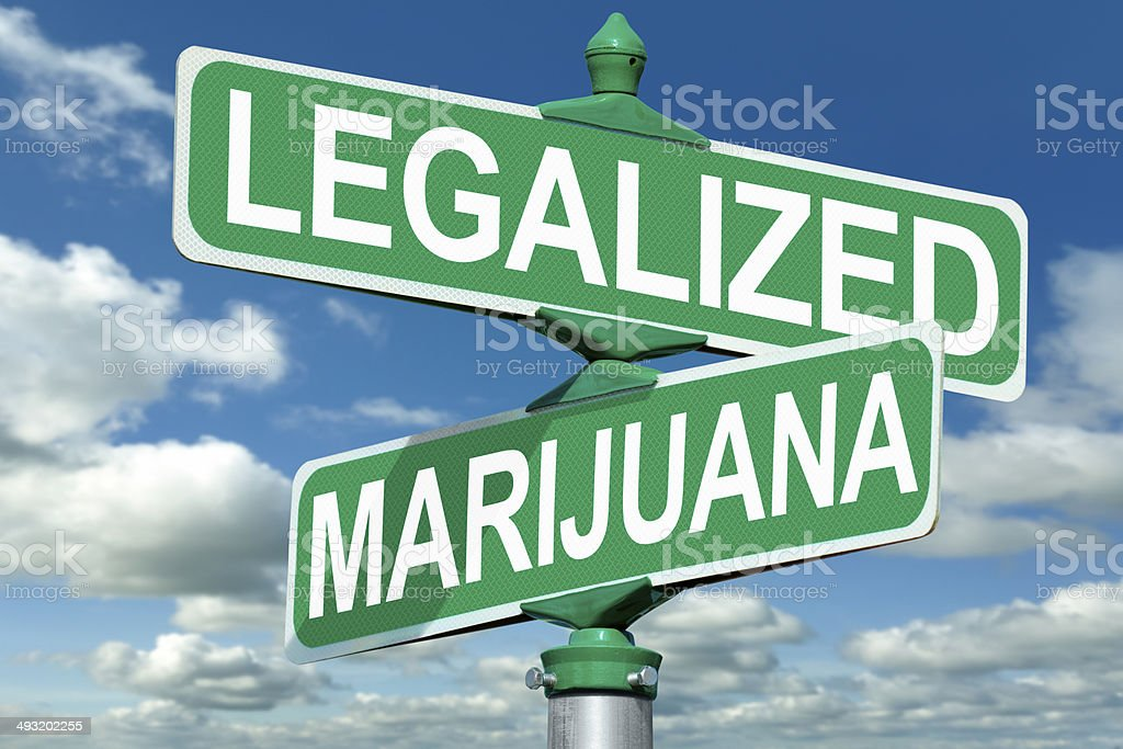 Legalized Marijuana Street Sign stock photo
