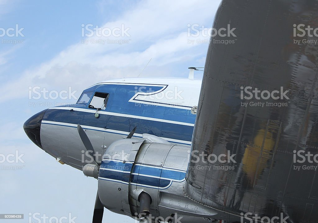 legendary DC-3 utility aircraft royalty-free stock photo