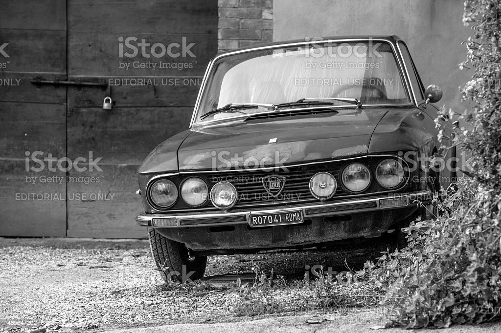 Legendary Lancia Fulvia Coupe Sports Classic Car stock photo