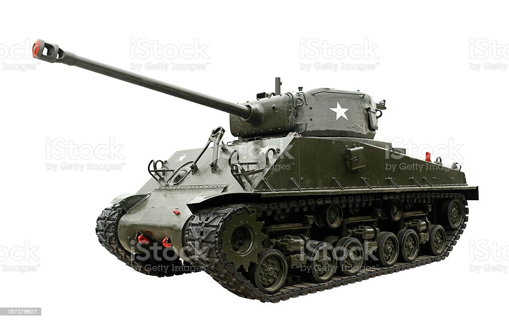 Legendary M4 Sherman Tank stock photo