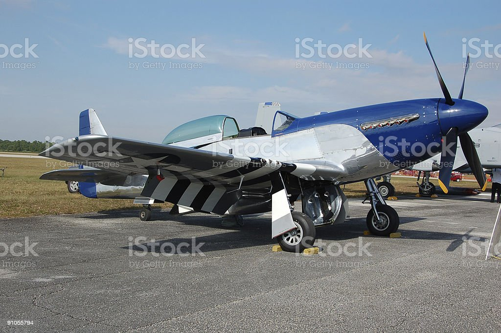 Legendary North American P-51 airplane royalty-free stock photo