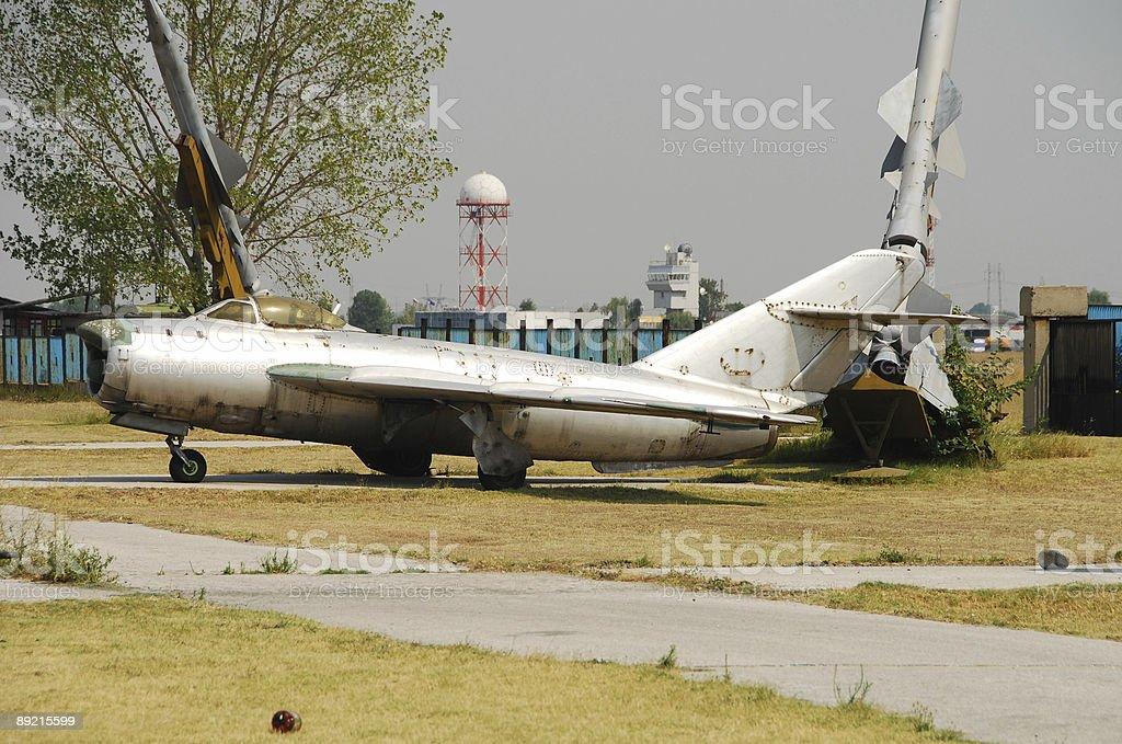 Legendary Soviet era jetfighter stock photo