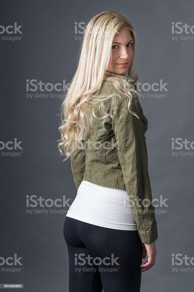 Leggings fashion in studio stock photo