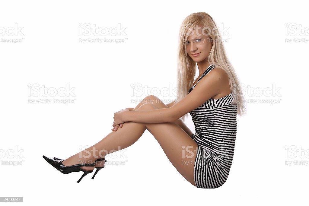Leggy girl royalty-free stock photo