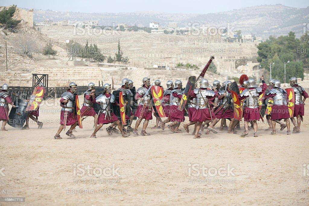 Legion attacking - Jerash, Jordan stock photo
